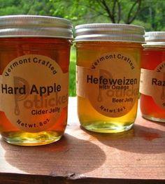 Beer Jelly 3-Pack: Orange Hefeweizen, Raspberry Hefeweizen & Hard Apple Cider