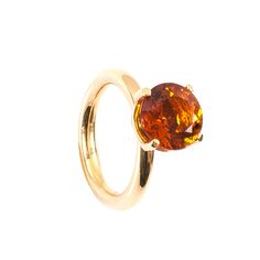 3,24CT Citrin Edelsteinring in der Farbe Orange, gefasst in 18-karätigem Gelbgold (750) Heart Ring, Engagement Rings, Orange, Jewelry, Matching Rings, Gems Jewelry, Engagement Ring, Rhinestones, Yellow