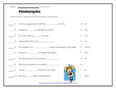 Teaching your kid the concept of homonyms is a herculean task. But with Easy Teacher's homonym worksheets it no longer remains a difficult job. Worksheets For Kids, Grade 2, Cartoons, Teacher, Kids Worksheets, Cartoon, Professor, Second Grade, Cartoon Movies