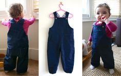 denim toddler dungarees - free pattern and tutorial