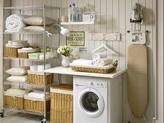 Cuarto de lavandería y plancha