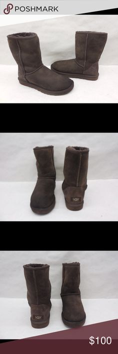 UGG 5825 Classic Short Suede Boots size 7 UGG 5825 Classic chocolate Short Suede Boots size 7 UGG Shoes Winter & Rain Boots