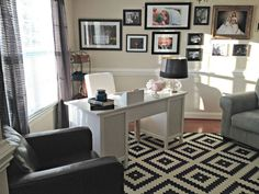 Office guest room living room office combination small images of turning bedroom into home office guest . Home Office Layouts, Home Office Space, Home Office Design, Home Office Furniture, Home Office Decor, House Design, Home Decor, Office Ideas, Office Workspace
