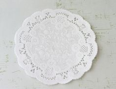 Bulk 100 White French Lace Paper Doilies 4 by MailboxHappiness, $7.00