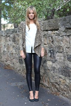 Leather-like jeggings. I rock mine for an upscale casual night out. My favorite top to wear with is a peplum top with heels...super sexy!