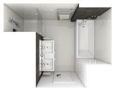 Moderní koupelna AMBRE - vizualizace