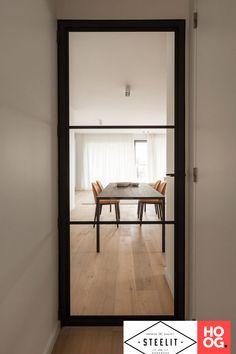 STEELIT® Modern 3 stalen binnendeur project Turnhout - Hoog ■ Exclusieve woon- en tuin inspiratie. Oversized Mirror, New Homes, Flooring, Doors, Living Room, Kitchen, House, Extension, Furniture