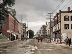 Main Street - Littleton, New Hampshire circa 1908 Source: http://www.reddit.com/r/ColorizedHistory/?count=100&after=t3_1phlo3