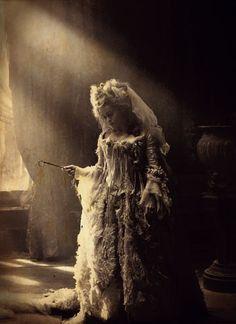 Miss Havisham. the original H.A.M  beautifully desperate and broken.