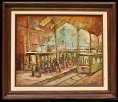 Mauricio Machado, Linha Londres Birmingham. OST, 60 x 51 cm.