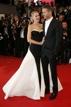 Blake Lively e Ryan Reynolds na première de Captives, no Festival de Cannes 2014 (Foto: Reuters)