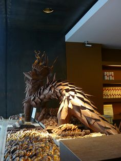 We know where this one came from. Dragon Chocolate Sculpture - Bruges, Belgium
