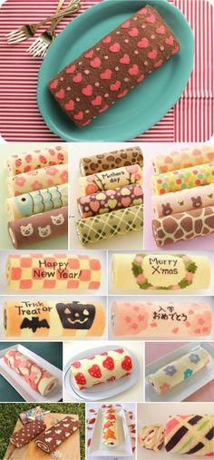 Chevron Cake Roll | Random Tuesdays by iro4ka