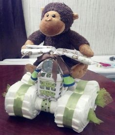 Monkey Diaper 4 Wheeler
