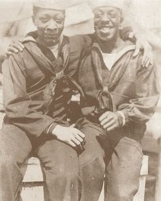 Male Affection in Vintage Photos Sailor men in uniform III