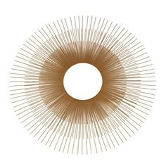 "Oversized Gold sunburst mirror 24"" Just like a well-edited wardrobe, it's important to mix the high-end home pieces with the low. This gold sunburst mirror from Target is so stylish, no one will even know it's not super expensive."