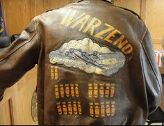 """Warzend"" Nose Art, Leather Flight Jacket, Leather Jackets, Pin Up, Back Painting, Dressed To Kill, Vintage Ads, Wwii, Graphic Sweatshirt"