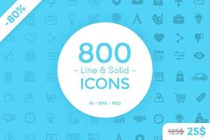 Ad: 800 Line & Solid Icons by filborg on 800 Line and Solid Icons is a bundle of 25 icon sets. The icons are suitable for use in web, apps and any graphic design project. Each icon All Icon, Icon Set, Icon Icon, Vector Shapes, Vector Icons, Vector Art, Business Brochure, Business Card Logo, Invitation