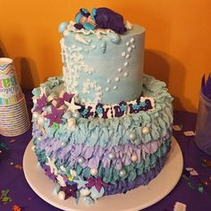 I love when clients share our toppers on their cakes! Mermaid baby shower cake! Mermaid Baby Showers, Baby Mermaid, Fondant Cake Toppers, Cake Decorating Tutorials, Sugar Art, Custom Cakes, Baby Shower Cakes, Cake Art, Cake Recipes