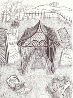 Emily Hutchison's drawing of The Caged Graves