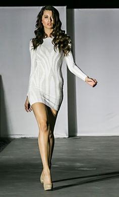A new look from the recent Young & Fabulous womenswear show (www.young), poolside at the W