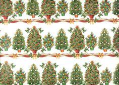 Geschenkverpackungen - Weihnachtspapier Carta Varese - Christbäume - ein Designerstück von fabriana bei DaWanda