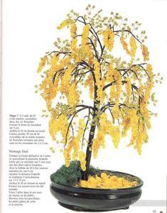 Ракитник - деревце из бисера