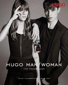 Freja Beha & Adrien Sahores for HUGO Fragrance 2015