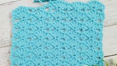Embroidery Stitches Tutorial Crochet Stitch Tutorial: Balanced Shell Stitch - Lets learn a new crochet stitch! The balanced shell stitch is a lacy stitch that would be great for your next baby blanket, throw, shawl, scarf and much more! V Stitch Crochet, Crochet Stitches For Beginners, Crochet Stitches Patterns, Tunisian Crochet, Learn To Crochet, Stitch Patterns, Crochet Edgings, Crochet Dishcloths, Crochet Afghans