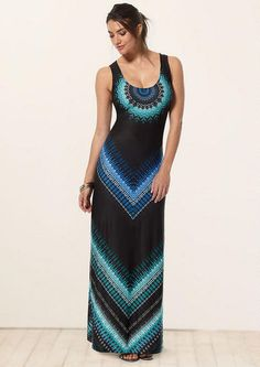 Love this!!!!   Emily Blue Medallion Maxi Dress - View All Dresses - Dresses - Alloy Apparel