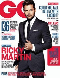 Ricky Martin on the September/October cover of GQ Australia.