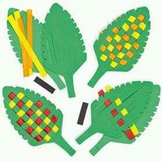 Image result for paper leaf weaving craft