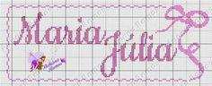 Maria Júlia Cross Stitch Patterns, Diy, Cross Stitch Alphabet, Cross Stitch Letters, Dots, Manualidades, Banquet, Health, Bricolage
