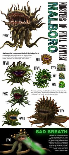 Ultima Final Fantasy: Monsters of Final Fantasy Malboro