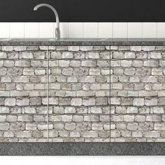 Αυτοκόλλητο για ντουλαπια κουζίνας γκρι τούβλο