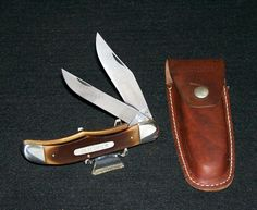 Schrade Walden 25OT Old Timer Hunter's Knife & Original Sheath Circa 1960's NOS @ ditwtexas.webstoreplace.com