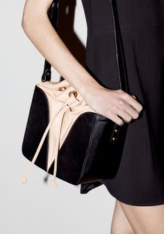 Drawstring bag | Nude with black | & Other Stories
