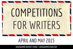 A list of 40 competitions for writers, both established and emerging, in April and May Writing Contests, Writing Jobs, Writing Poetry, Fiction Writing, Writing Quotes, Writing Advice, Writing Help, Writing A Book, Writing Prompts