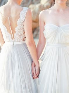 Two Brides at Half Moon Bay   Same sex wedding inspiration   Michele Beckwith Photography