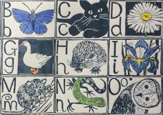 Meredith Andrea's lino printed alphabet for York Open Studios Abstract Landscape Painting, Landscape Paintings, Lino Prints, Creative Ideas, Alphabet, Studios, Artists, York, Printed
