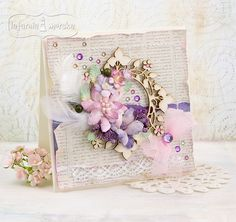 Handmade Cards, Scrap, Shabby, Chic, Floral, Vintage, Design, Home Decor, Style