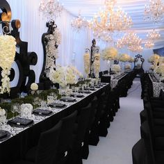 I want a black and white wedding soooo bad.  But my superstitious mother says it's bad luck. haha