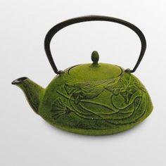 Tea Green Cast Iron Prosperity Teapot - 34 oz.