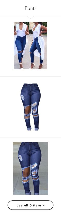 """Pants"" by kasshoping ❤ liked on Polyvore featuring jeans, outfit, pants, blue, patterned jeans, blue denim jeans, cut out skinny jeans, denim skinny jeans, skinny jeans and bottoms"