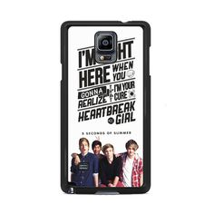 5 seconds of summer with quotes Samsung Galaxy Note 3 | 4 Cover Cases