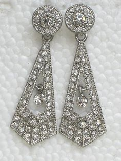Buy Clear Rhinestone Crystal Plugs Gauges Dangles by stephystrick9. Explore more products on http://stephystrick9.etsy.com