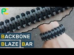 Backbone Blaze Bar Paracord Bracelet - YouTube Paracord Weaves, Paracord Braids, Paracord Knots, 550 Paracord, Paracord Bracelets, Knot Bracelets, Survival Bracelets, Jewelry Knots, Paracord Tutorial
