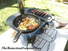 Ecozoom Stove - Zoom Plancha Review from The Homestead Survival website. (http://thehomesteadsurvival.com/)  This would make a great alternative stove - that might just become the main one in time!!