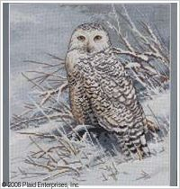 Bucilla ® Counted Cross Stitch - Picture Kits - Snowy Owl