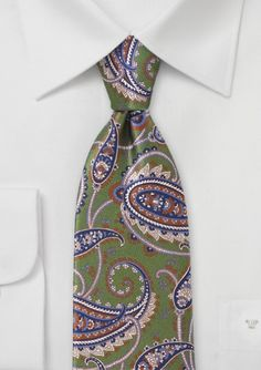 Gren Paisley Silk Tie by Cantucci